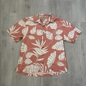 Tommy Bahama 100% Silk Tropical Hawaiian Shirt